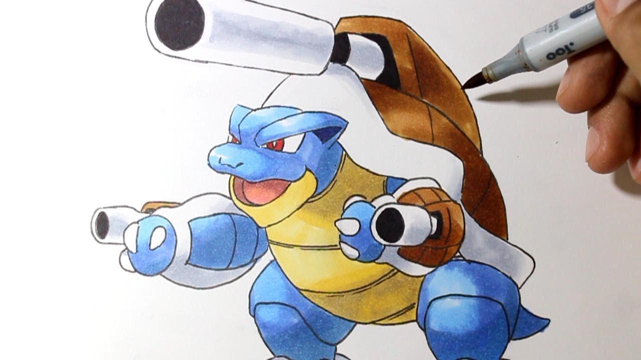 Wie zeichnet man Mega Turtok [Pokemon X/Y] Tutorial - YouTube | 1280 x 720 jpeg 87kB