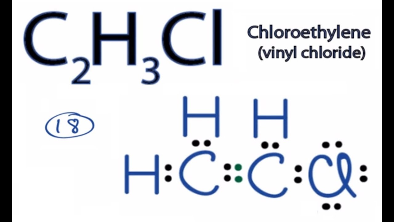 hight resolution of c2h3cl lewis structure how to draw the lewis structure for c2h3cl youtube