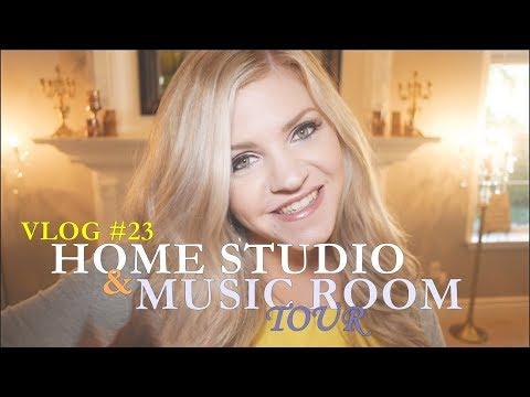 HOME STUDIO & MUSIC ROOM TOUR - Jennifer Thomas Vlog #23