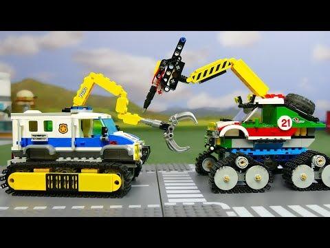 LEGO Experimental Police Car vs Experimental Monster Truck . Cars for kids