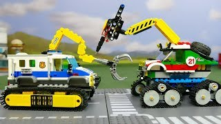 LEGO Experimental Police Car vs Experimental Monster Truck . Cars for kids