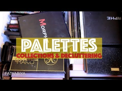 EYESHADOW, BLUSH, CONTOUR PALETTE COLLECTIONS & DECLUTTERING