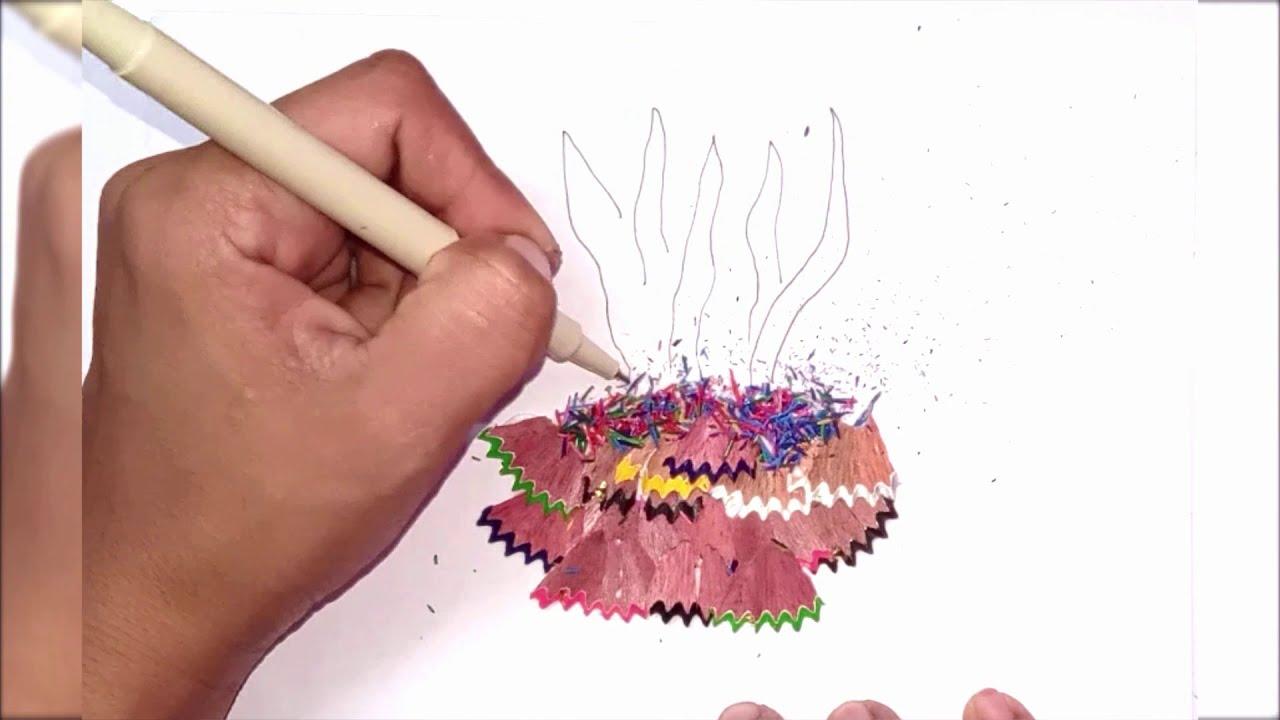 PENCIL SHAVING ART PART 2 - YouTube