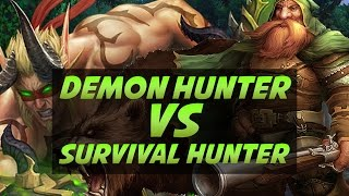 Demon Hunter vs Survival Hunter Duels - Legion PvP