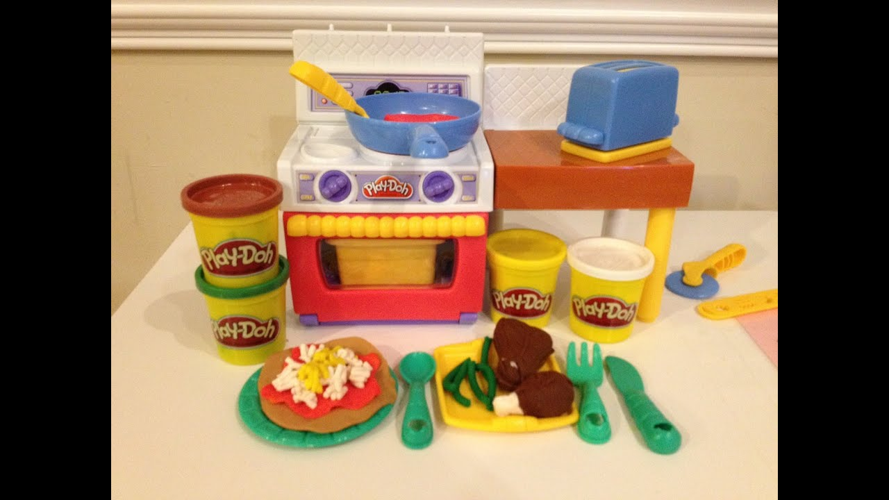 Play Doh Meal Makin Kitchen How To Make Play Doh Pizza And Burgers