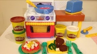 Play-doh Meal Makin' Kitchen How To Make Play-doh Pizza, Tacos, And Burgers Toy Playset