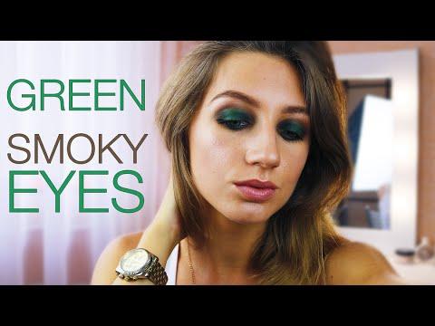 Макияж для зеленых глаз - изумительный вечерний макияж для зеленых глаз