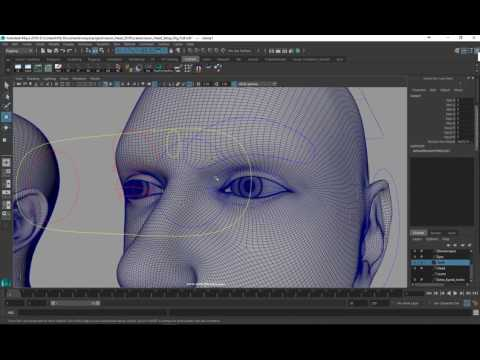 Rigging a Photorealistic Head for Performance Capture - Rigging Eye Follow Controls (12/13)
