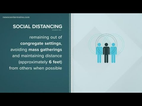 'Social Distancing' Is Seen As Key To Preventing The Spread Of Coronavirus Covid-19