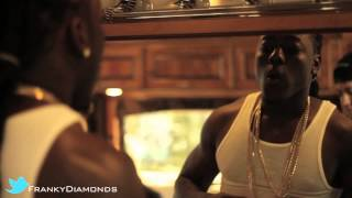 "FRANKY DIAMONDS SELLING CUBAN LINK CHAINS TO ACE HOOD  DURING ""BUGATTI"" VIDEO SHOOT"