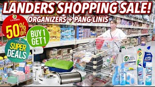 LANDERS SHOPPING! 50% OFF SALE PANGLINIS AT ORGANIZERS PARA SA BAHAY! | VLOG#96 Candy Inoue ♥️