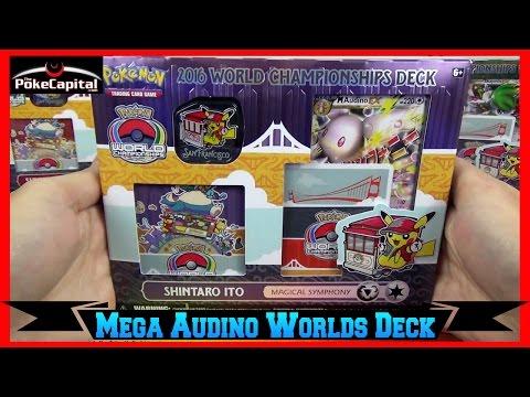 Pokemon Cards 2016 World Championships Mega Audino EX Deck Opening - Masters Champion