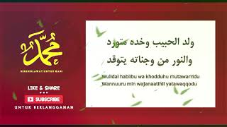 Download Wulidal habib (LIRIK)