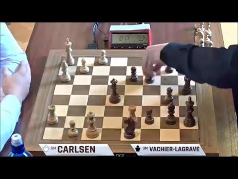 Download GM Carlsen (Norway) - GM Vachier - Lagrave (France) 5m + PGN