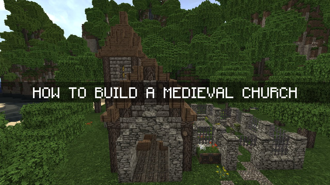 Minecraft tutorial how to build a medieval church chapel youtube malvernweather Images