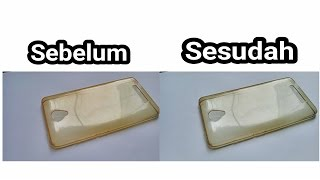 cara membersihkan atau menghilangkan noda kuning di silicone case android HD