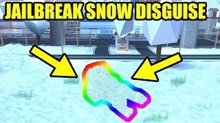 DISGUISING as THE GROUND [INVISIBLE COP PRANK]   Roblox Jailbreak
