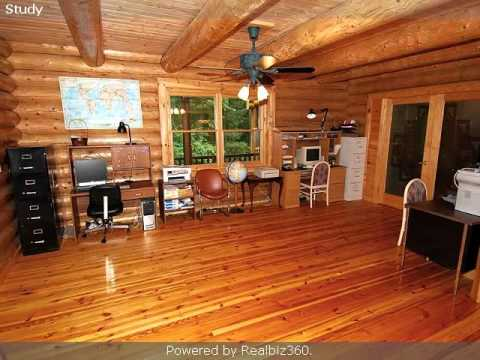 Ann Arbor Area Real Estate for Sale: Portage Lakefront log home in Pinckney www.KathyToth.com
