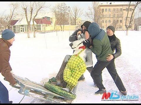 В Ворошиловском районе Волгограда на место поставили серого волка