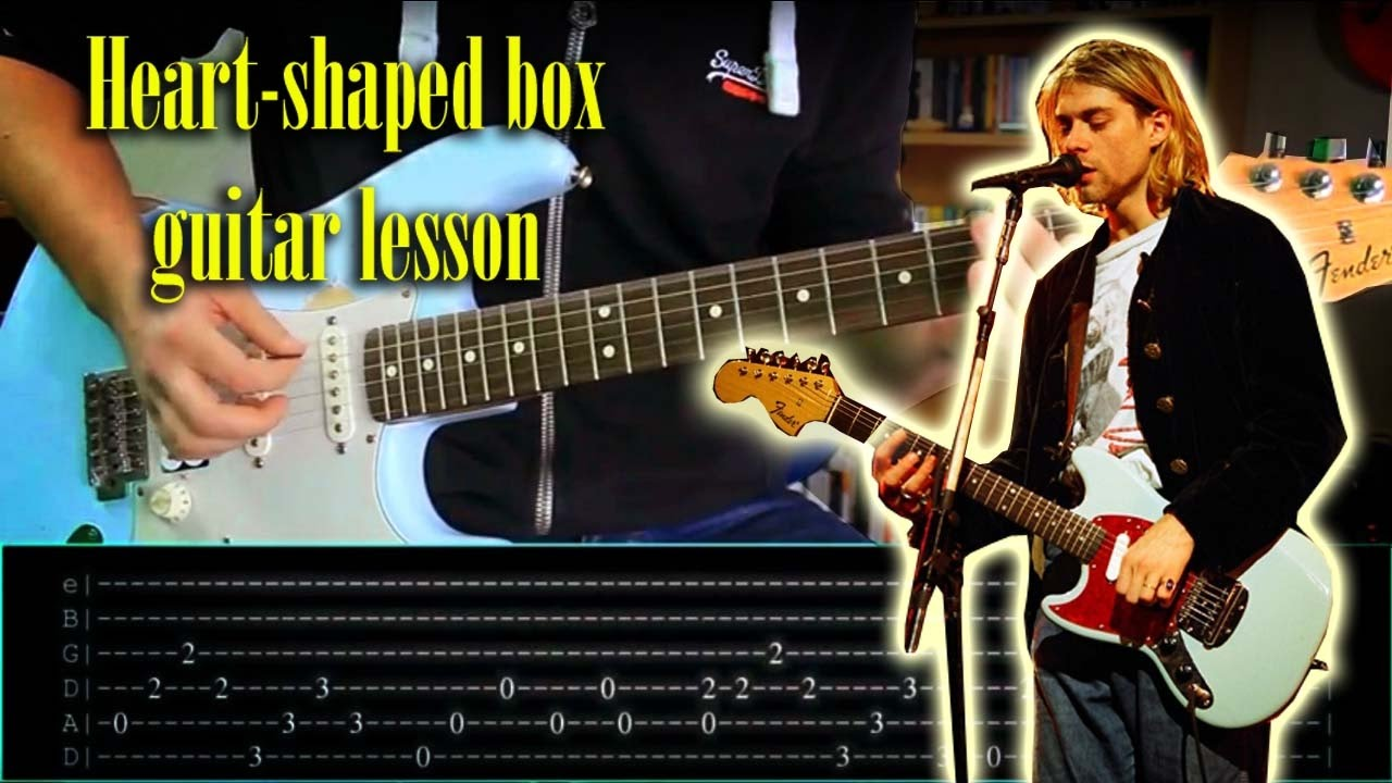 heart shaped box by nirvana guitar lesson with tabs youtube. Black Bedroom Furniture Sets. Home Design Ideas