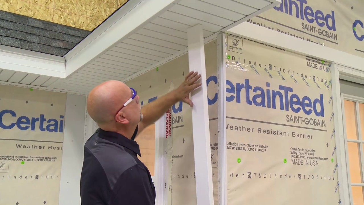 Installing A Four Piece Corner System For Certainteed