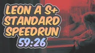 Resident Evil 2 Remake - Leon A Speedrun - 59:26