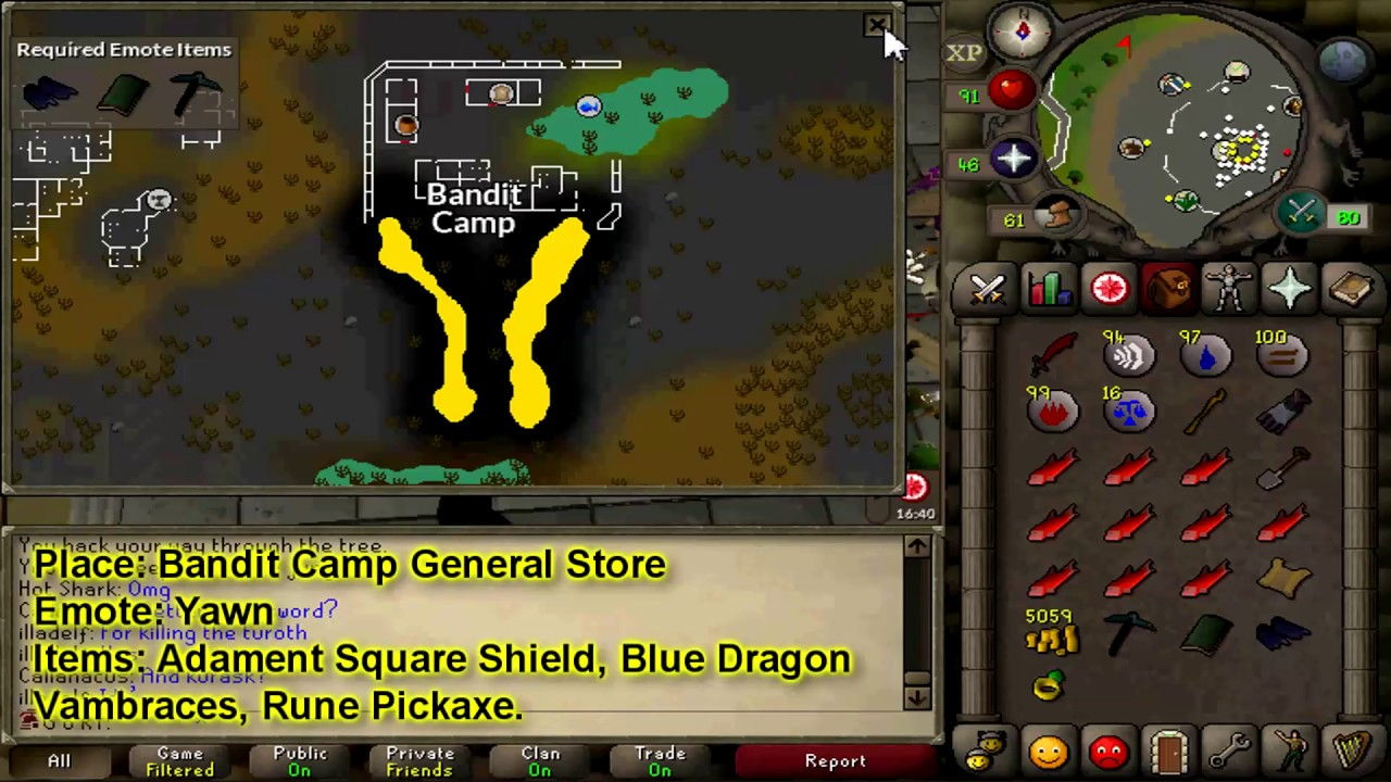 OSRS - Yawn in the rogues\' general store. Beware of double agents ...
