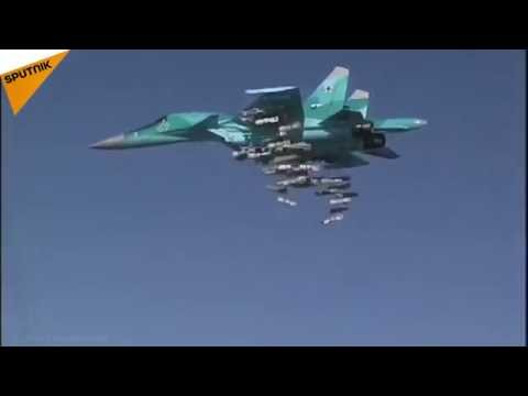 Russian Su-34 Jets Deployed in Iran Strike Daesh in Syria