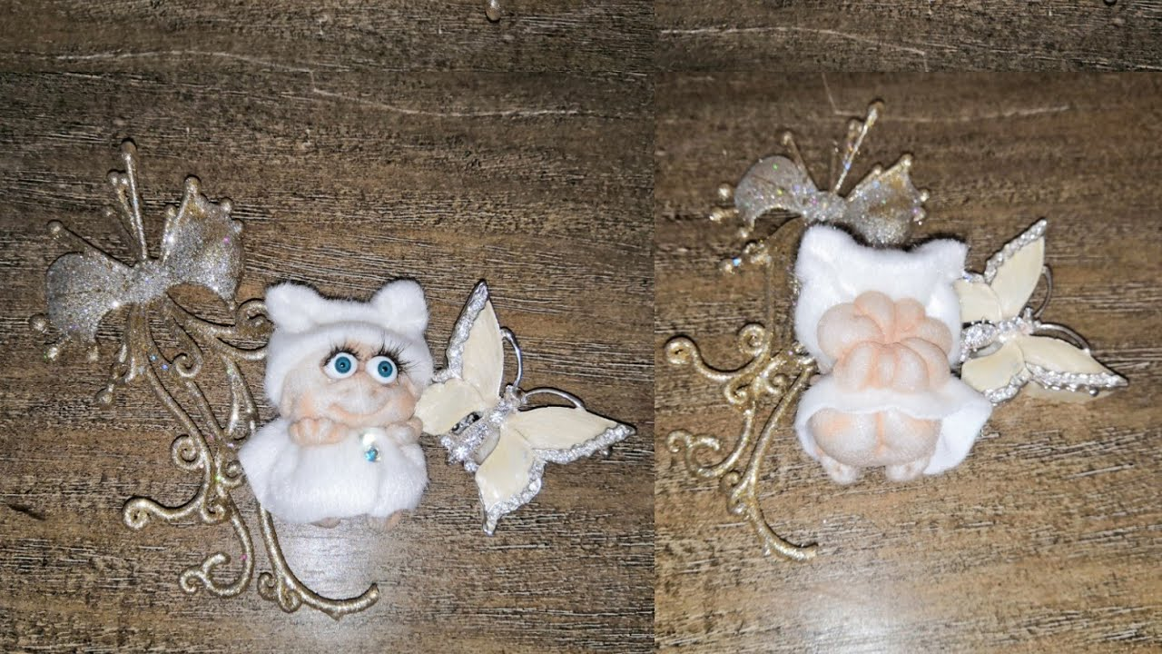 Ангелочки из капрона своими руками фото 88