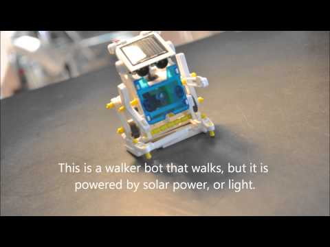 Michigan Math and Science Academy  Diamond and Zaire's walkerbot video