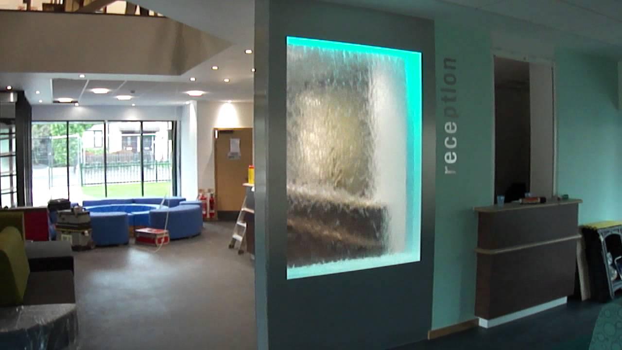 H2o Designs Water Wall Burnley Fold Health Clinic Youtube