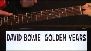 David Bowie Golden Years Guitar Chords Lesson & Tab Tutorial