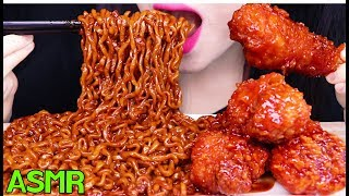 Download lagu ASMR BLACK BEAN NOODLES + FRIED CHICKEN 시크릿 양념치킨 짜장 불닭볶음면 먹방 (EATING SOUNDS) NO TALKING MUKBANG