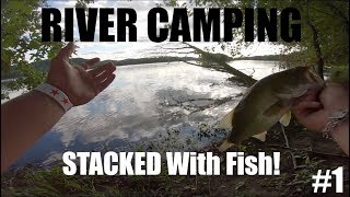 CAMPING On RIVER STACKED With Fish EP 1 (Wisconsin River)