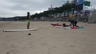 만리포 서핑영상 지상레슨, 가족회원, 만리포해양스포츠클…