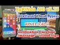 - XgRINda AIO v5.7.5 Untethered iCloud Bypass iOS 12/13./14.3 Support iPhone iPad Fix All notification