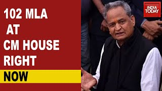 Rajasthan Political Crisis: 102 Legislators Currently At CM Ashok Gehlot's Residence For Meet