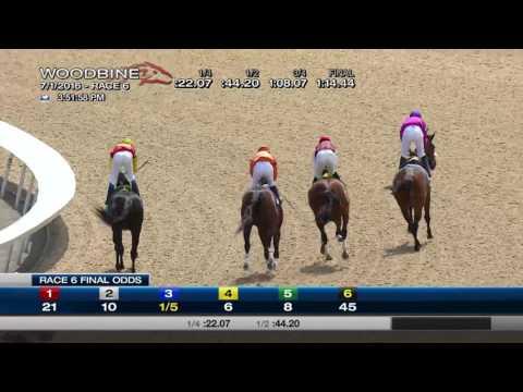 Woodbine, Tbred, July 1, 2016 Race 6