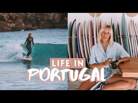 MY LIFE IN PORTUGAL   Surfing, everyday life + HUGE Nazaré waves