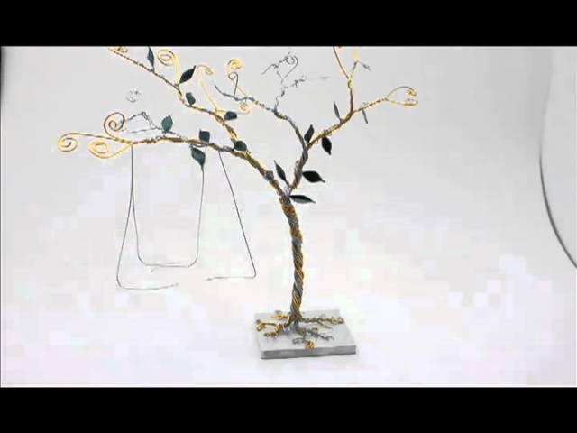 Tree Swing Wedding Cake Topper Animation