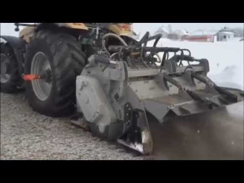 FAE Road Reclamation Attachment CHALLENGER MT685 with FAE MTH-225 Deep Frozen Ground