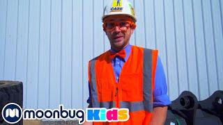 Блиппи изучает вилочный погрузчик   Moonbug Kids на Русском   Мультики на Русском