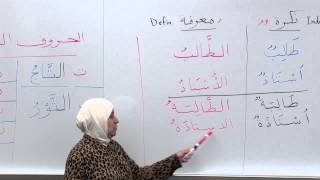 Elementary Arabic Writing: Indef Def nouns