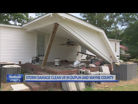 Severe weather causes power outages, downed trees in Wayne, Duplin counties