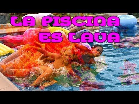 La piscina es lava con pinkys girls