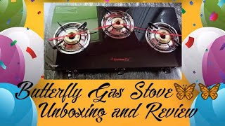🦋Butterfly Rapid Glass Top Gas stove Unboxing and Review 🦋🔥