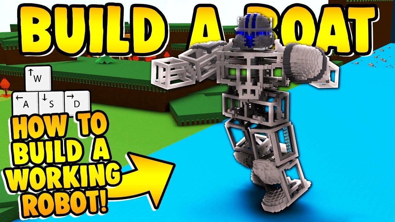 Roblox Mech Battles Build A Boat For Treasure Build A Boat How To Build A Mech Tutorial Youtube
