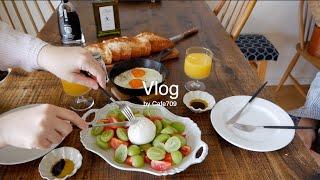 심플 계란 요리 '카니 타마' 점심식사,…