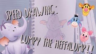 Speed Drawing!! | Lumpy the Heffalump Winnie the Pooh |