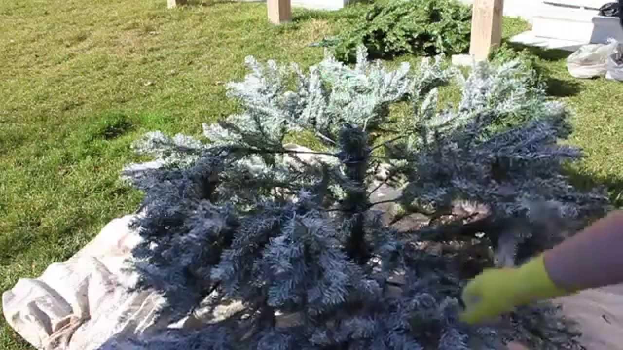 christmas tree flocking tutorial youtube